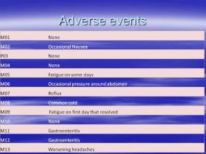 Oral 1 Adverse Events