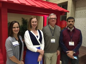 Photo taken at the recent , with the four ACG-sponsored attendees: Amy Oxentenko, MD, FACG (faculty), Laura Raffals, MD (participant), Eamonn Quigley, MD, FACG (faculty) and Vivek Kaul, MD, FACG (participant).