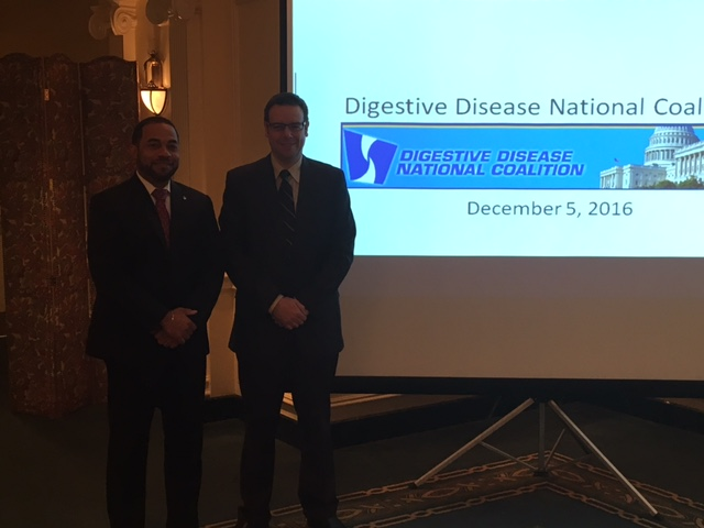 James Hobley, MD, FACG & Costas Kefalas, MD, MMM, FACG at the DDNC Fall Forum, December 5, 2016