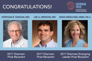 2017 Sherman Prize Recipients